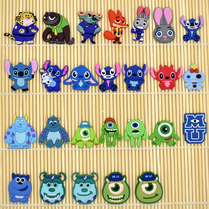 10pcs Cartoon Monster Bunny Fox Flatback Charms DIY Craft Accessory For Cable Winder/Brooch/USB Charger/Card Holder/Earphone