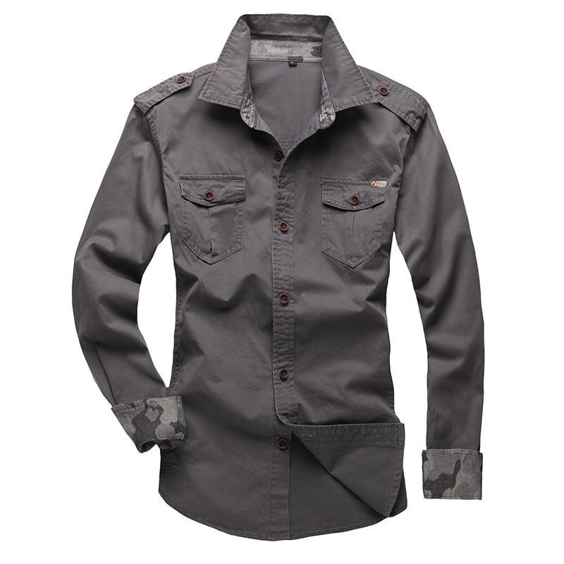100% Cotton Military Shirt Men (14)