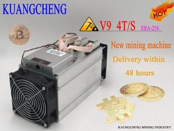 KUANGCHENG AntMiner V9 4T 4th/s (без PSU) Биткоин Miner Asic Miner Btc Miner Bitcoin лучше, чем S9 M3 E9