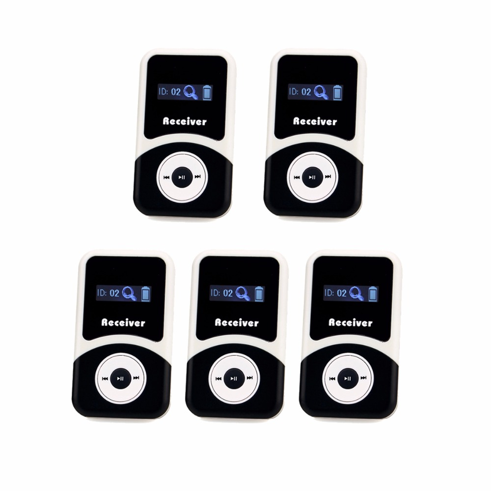 5pcs ANDERS Wireless Receiver for Tour Guide System Tour Guiding Simultaneous Translation Meeting Church Best F4505A цена и фото