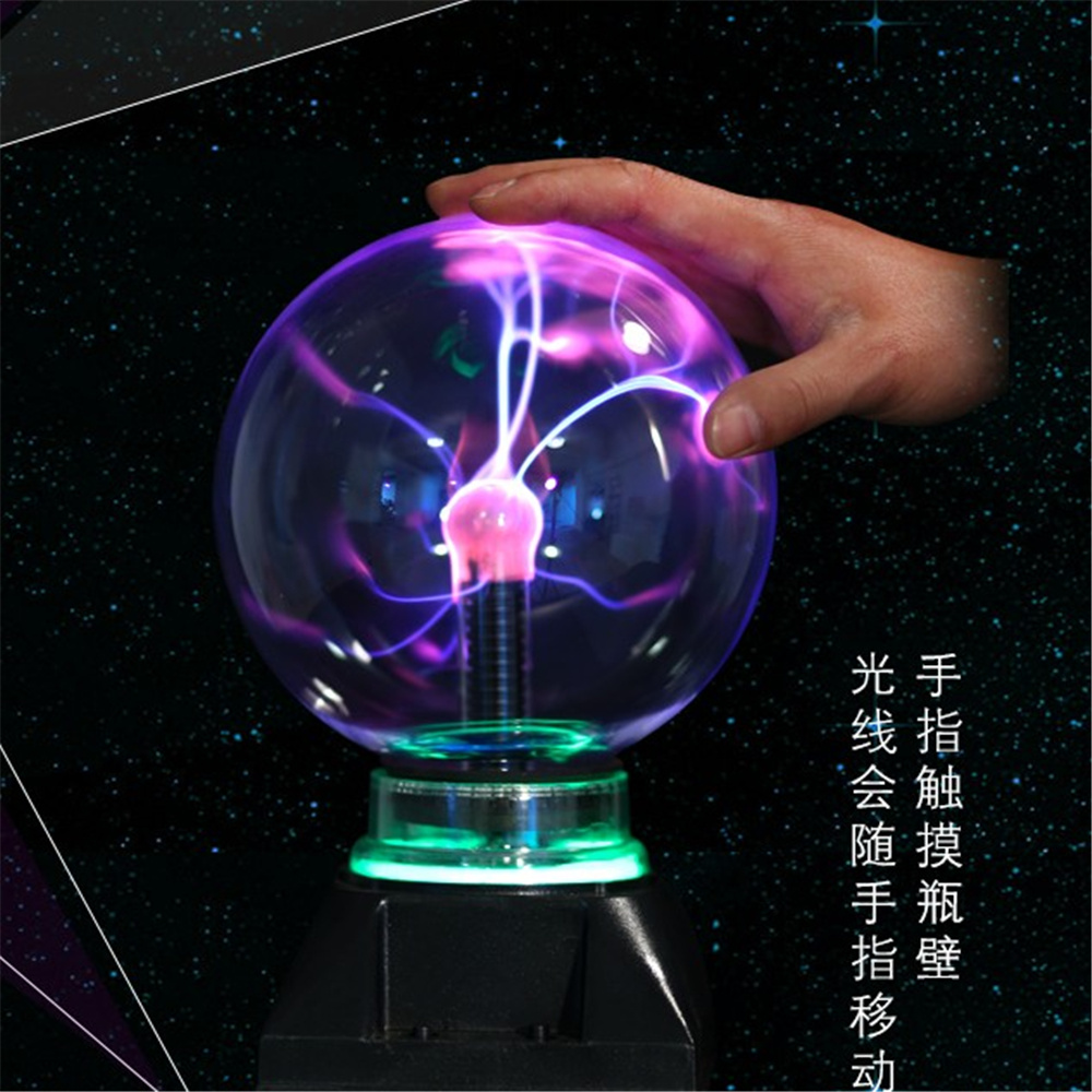3 USB Plasma Ball electrostatic Sphere Light Magic Crystal Lamp ball Desktop Globe Laptop Lightning Light Lamp Christmas Party ac powered plasma ball red light lightning sphere 220v eu plug