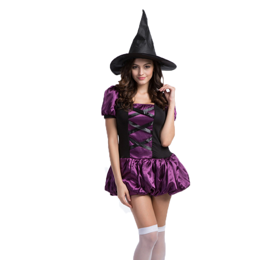 Popular Purple Witch Dress-Buy Cheap Purple Witch Dress lots from ...