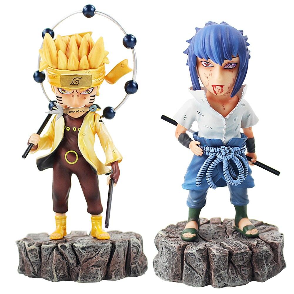 16 17cm 2Styles Naruto Shippuden Haocaitoy Uzumaki Naruto Uchiha Sasuke Figurine PVC Action Figure Collection Model Toy Gift|Action & Toy Figures|Toys & Hobbies - title=