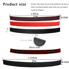 Rubber Rear Guard, Bumper Protect Trim, Cover Sill Mat Pad, For Civic, Accord, CR-V, Fit, Jazz, HR-V