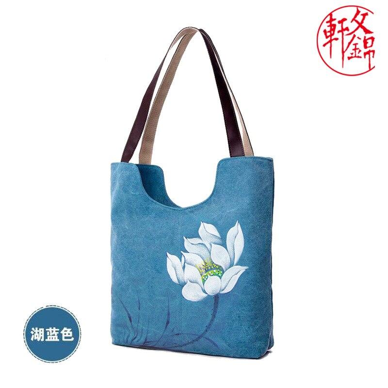 Large Floreale Donne grigio Bag Beige Tote Borsa blu Calde 010318 Nuove Stampa chiaro Notte Canvas caffè il blue Nero Femminile 8wZP5Yq