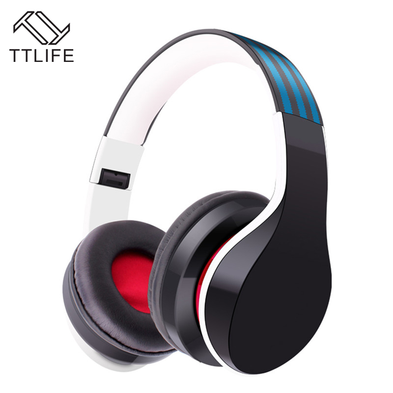 TTLIFE Brand 2016 X7 Wireless Bluetooth Headphones Bass Noise Isolating Earphone with MIC Support Hands-free FM Radio Pk CD 618 ttlife mini portable touch button bluetooth speaker support fm radio nfc tfcard wireless super bass loudspeaker
