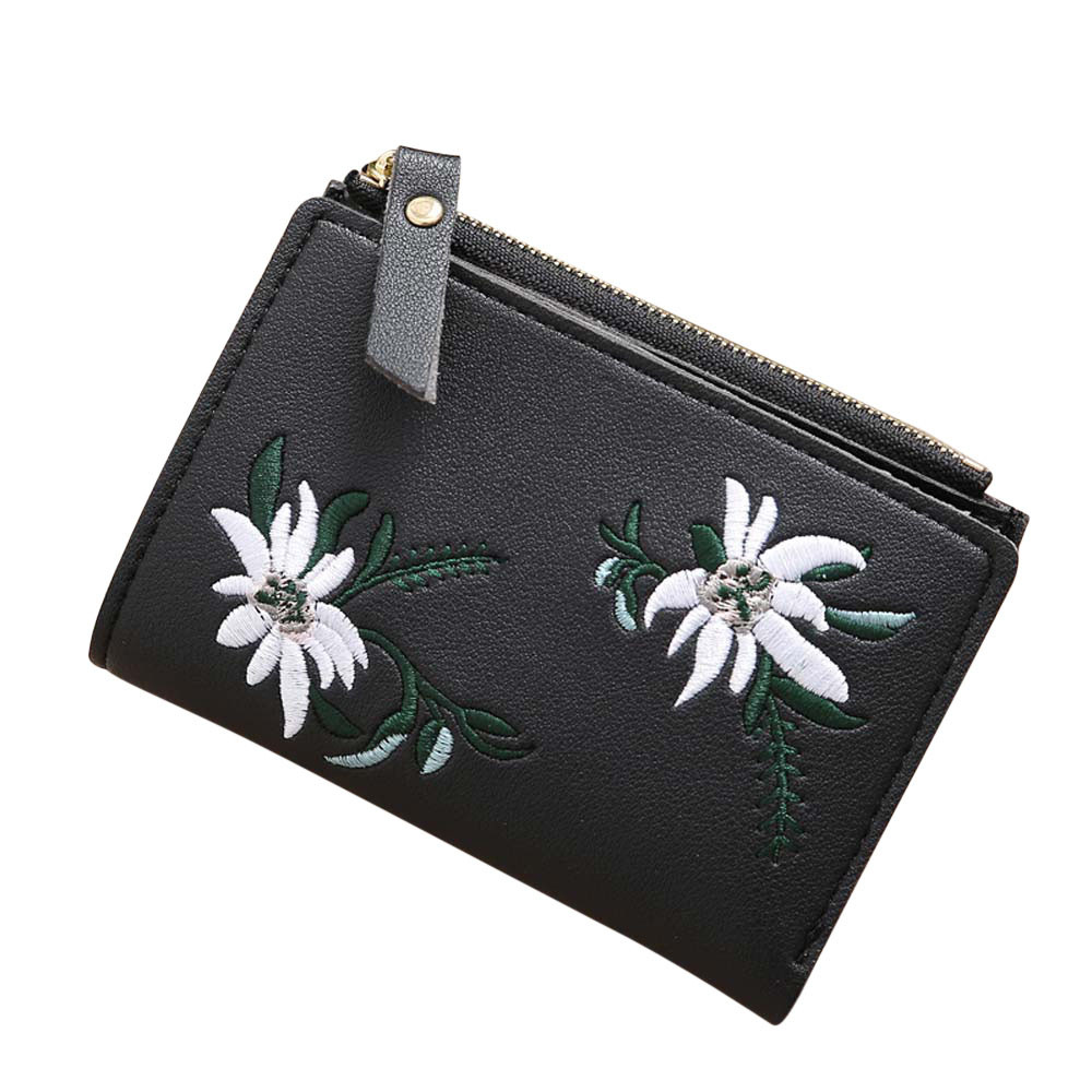 2018 New Fashion Hot Sale Women Embroidery Zipper Short Wallet Coin Purse Card Holders Dropship 171101 If #15 Nourishing The Kidneys Relieving Rheumatism Luggage & Bags Women's Bags