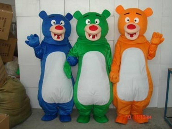 Three Brothers Bears Mascot Costune Fancy Dress Festivals (the price is for one)