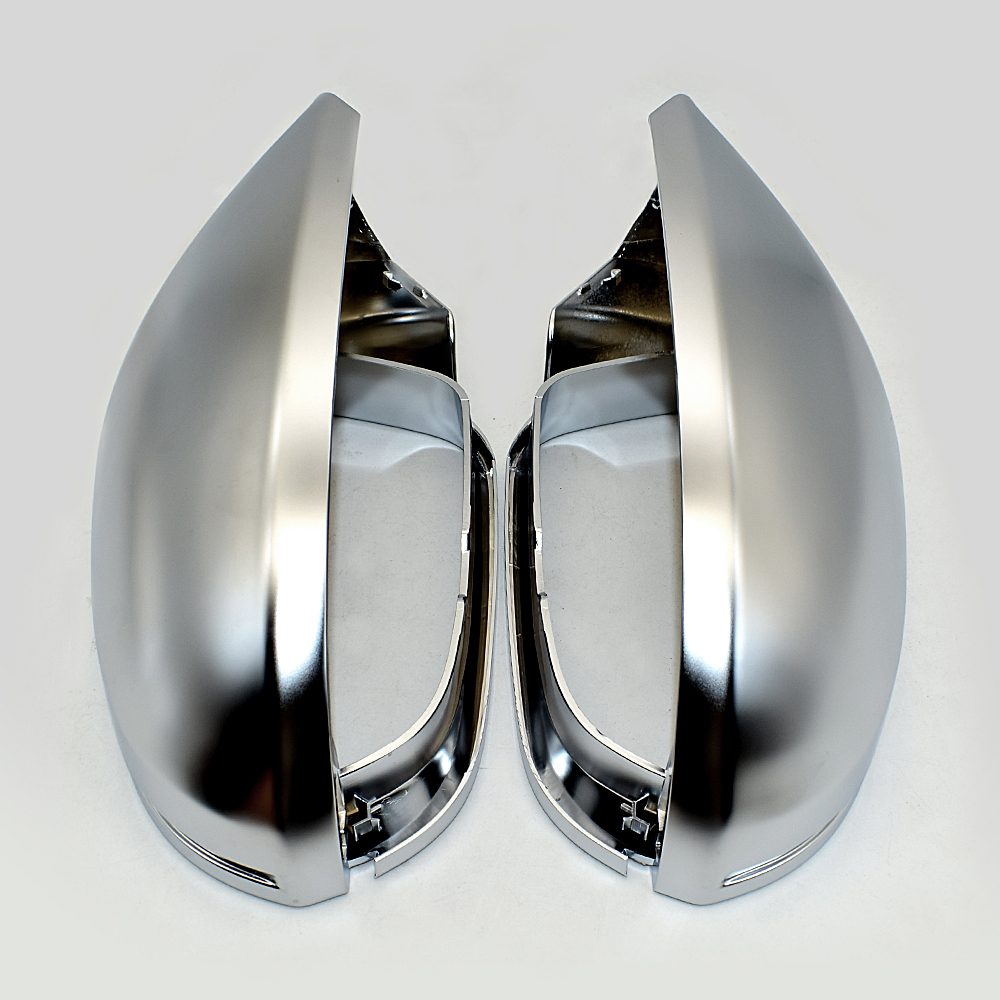 For Audi A6 S6 C7 4g Side Wing Mirror Covers Caps Silver Matte Chrome 2013 2014 2015 Aluminum Brushed