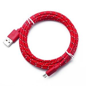 Image 5 - 1 メートル/2 メートル/3 メートルのナイロン編組マイクロ USB ケーブルデータ同期 USB 充電ケーブル huawei 社 Xiaomi Htc の Android 携帯電話 USB マイクロケーブル