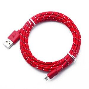 Image 5 - 1 M/2 m/3 M ไนลอน Braided Micro USB Cable ข้อมูลซิงค์สายชาร์จ USB สำหรับ Samsung huawei Xiaomi HTC โทรศัพท์ Android สาย USB Micro