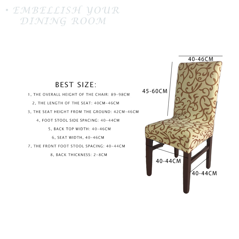 Cool 1 Piece Lycra Dining Chair Covers Spandex Stretch Home Chair Creativecarmelina Interior Chair Design Creativecarmelinacom