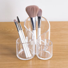 Original Clear Acrylic Makeup Storage Case Nail Polish Rack Lipstick Cosmetic Storage box Holder Makeup Brush Makeup Organizer(China)