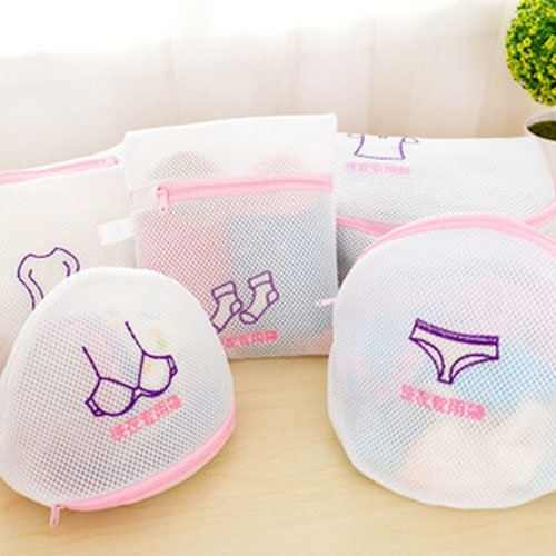 Hot Sale Classified Net Mesh Multifunction Bra Care Wash Protect Bag With Hanger Ball Bra Underwear Storage Drying Rack Basket