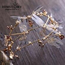 Золотая корона для волос ручной работы в стиле барокко трехслойная