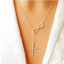 2017 8 Word Girl Fashion Alloy Necklace Cross Pendant Necklace Jewelry Accessories For Women Aliexpress(China)