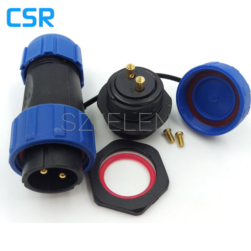 SP2110, 2 pin waterproof connector, panel cutout 2mm, IP68, connection mode connect by the metal screw, LED power wire connector original roland sp 300 sp 300v sp 540v panel board w840605010 printer parts