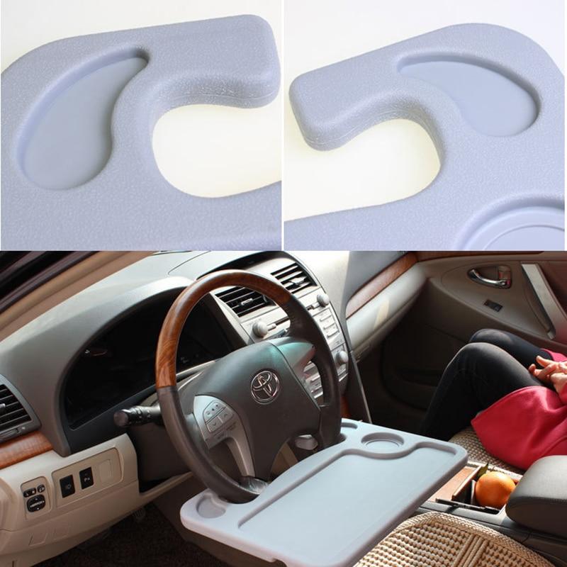 Car Steering Wheel Card Table Laptop Desk Worktable Dish Snacks Drink Holder Auto Supplies Universal Accessories Multi-function