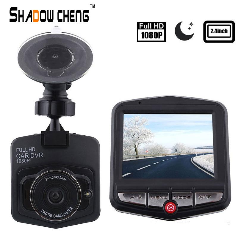 Prix pour DVR route dash voiture caméra 2.5 pouces IR véhicule miroir avant vidéo de voiture caméra enregistreur avec caméras de voiture LED tableau de bord caméscope
