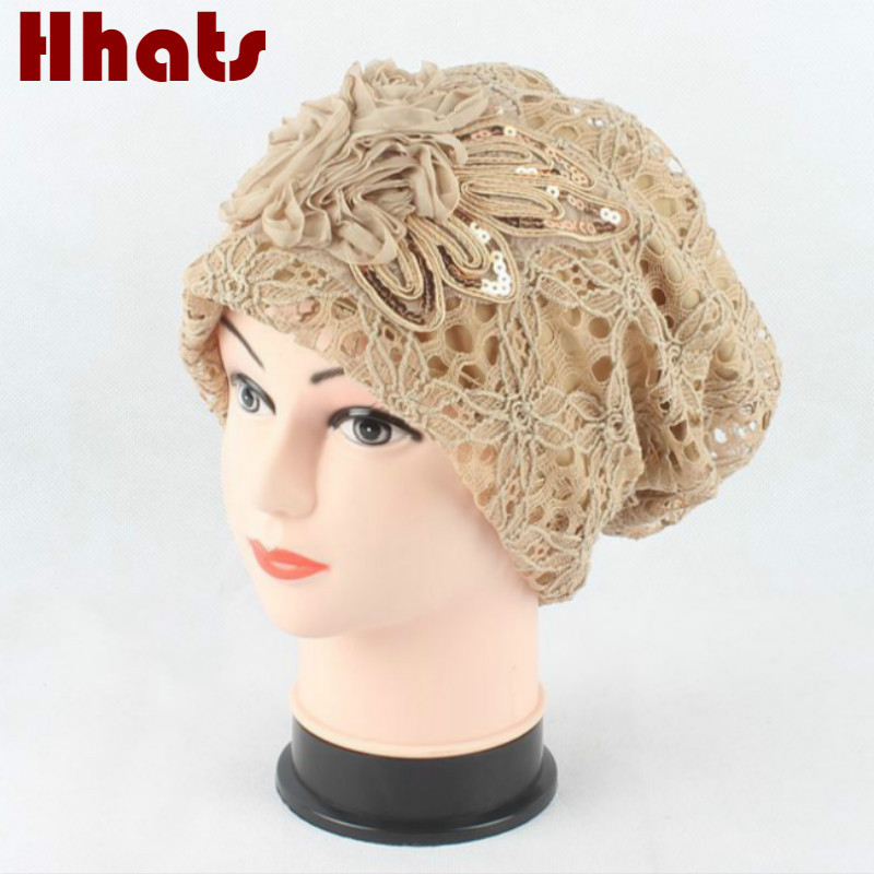 купить Which in shower women girl turban hat head wrap Indian style chemo cap high quality stocking beanie lace cancer bonnet for lady дешево
