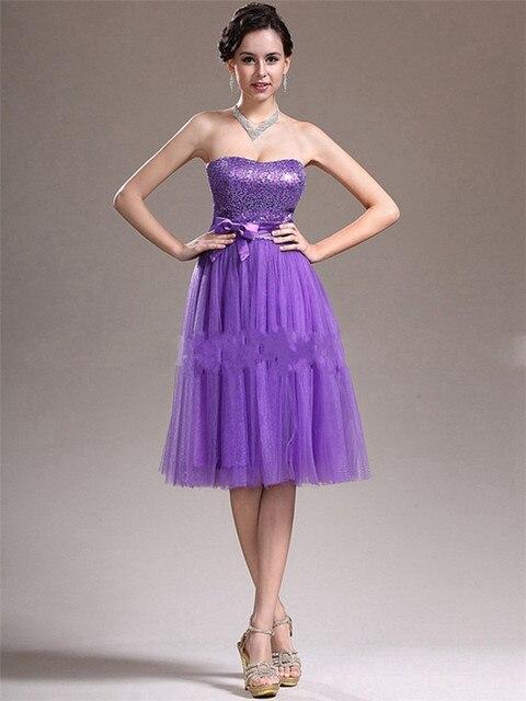 Knee Length Sequinedbowdraped 8th Grade Prom Dresses 2015 Hot