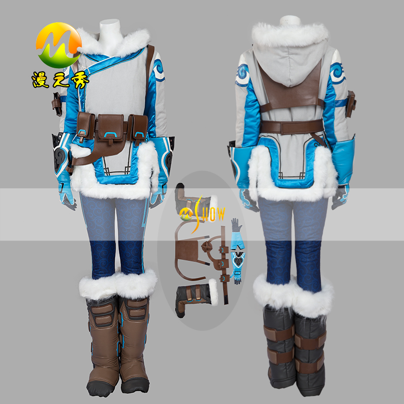 Hot Sale Game OW Pioneer 76 Soldier Mei Cosplay Costume Party Halloween Costumes for Women Children Kids COS Clothing Set Gift