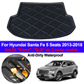 Задние загрузки грузового лайнера Лоток багажник багаж пол ковры коврики коврик для Hyundai Santa Fe 5 Seat 2013 2014 2015 2016 2017 2018