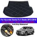Hinten Boot Cargo-Liner Fach Stamm Gepäck Boden Teppich Matten Teppiche Pad Für Hyundai Santa Fe 5 Sitz 2013 2014 2015 2016 2017 2018