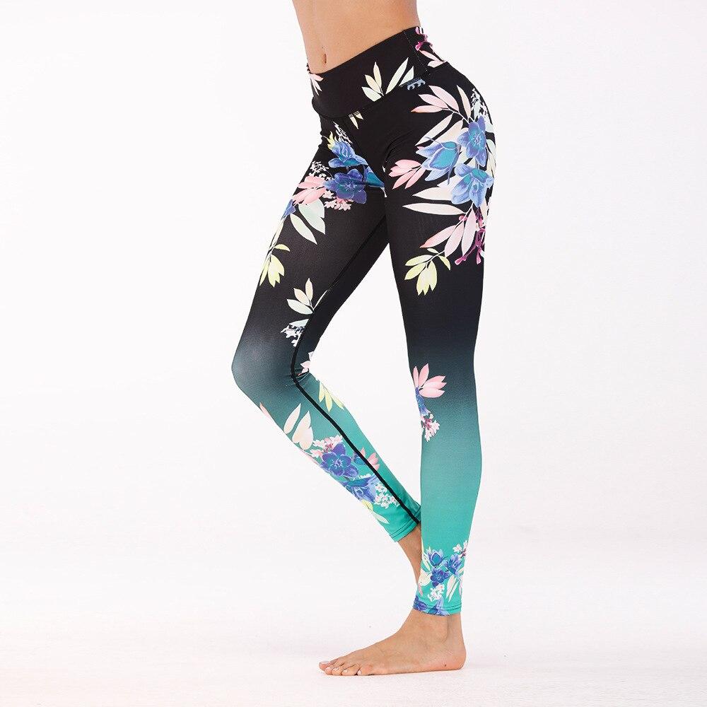 New Flower Digital Print Leggings For Women Fitness Ankle-length Polyester Pants Athleisure female Leggings