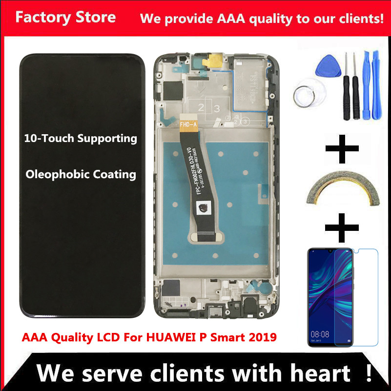 10-Touch AAA Quality LCD For Huawei P Smart 2019 LCD With Frame LCD Screen Display For P Smart 2019 LCD Screen POT-LX1 L21 LX3(China)
