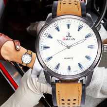 New Men Simple Scale Analog Dial Quartz Watch Leather Strap Men's Watches Fashion Sports Wristwatch Male Clock Relogio Masculino