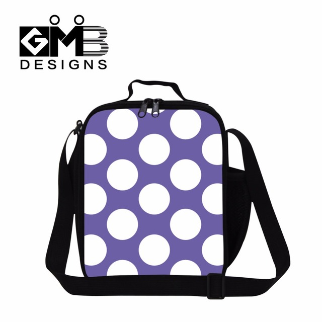 39a7df3d9ee5 Dot Printed Insulated Lunch Bag for Children Girls Food Bag Stylish Lunch  Conatainer Pattern for Ladies Adults Work Cooler Bags-in Lunch Bags from ...