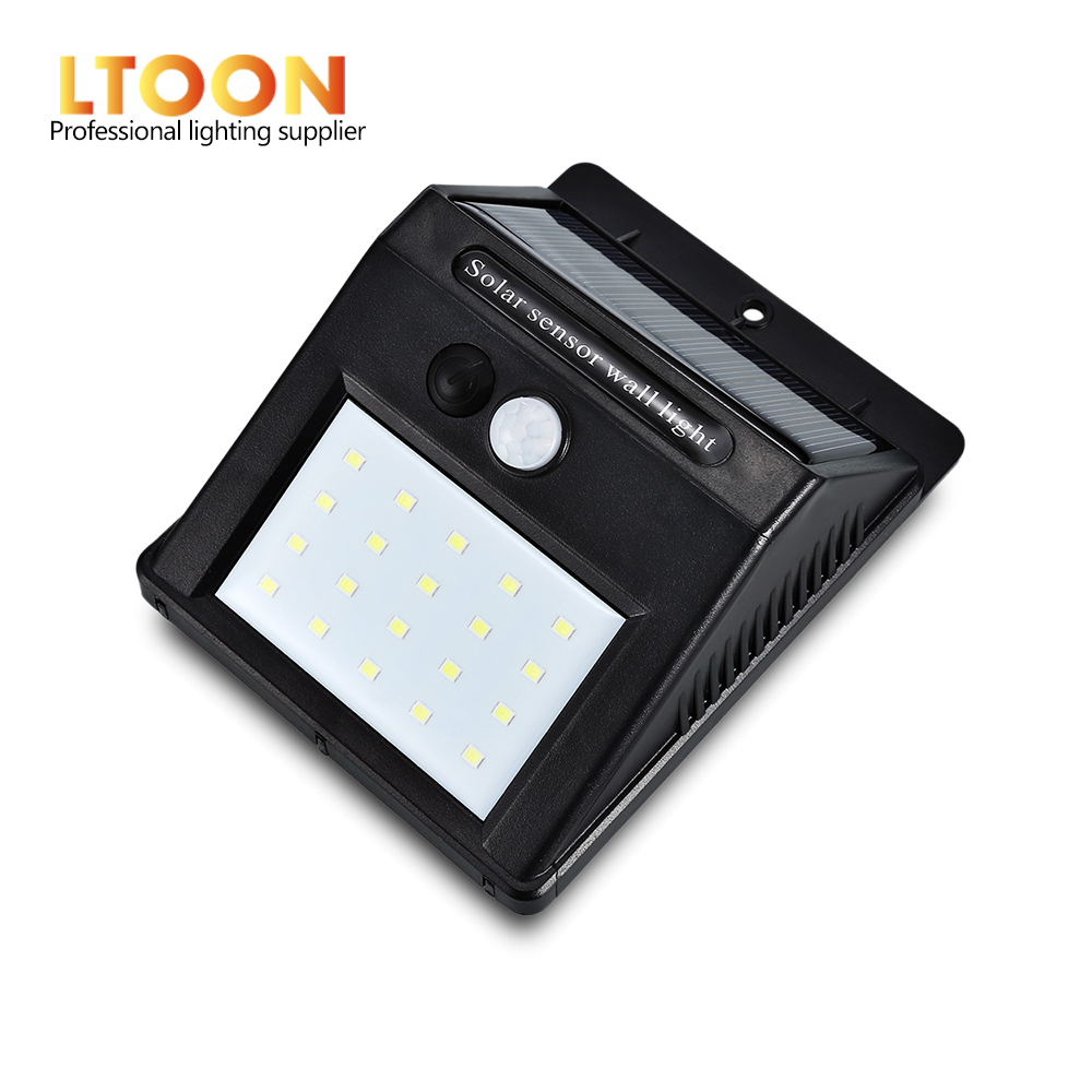 [LTOON]LED Solar Power PIR Motion Sensor Wall Light 20 LED Outdoor Waterproof Energy Saving Street Yard Path Home Garden Securit