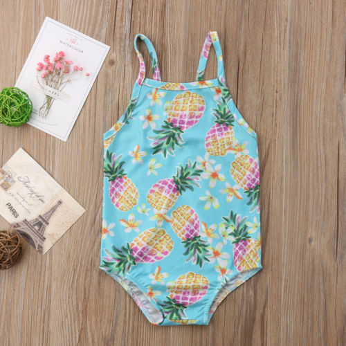 d2cced85ffcb8 ITFABS Newborn Baby Girl Floral Swimsuit Ruffles Bathing Suit Bikini  Striped Swimwear for Baby Girls Beach Wear ...