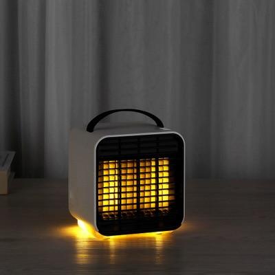 Ev Aletleri'ten Fanlar'de Mini negatif iyon klima fanı gece lambası başucu küçük masa fanı çok fonksiyonlu hava arıtma HAVA SOĞUTUCU title=