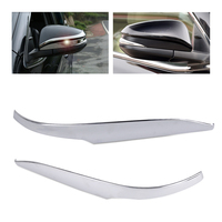 Beler 1Pair ABS Chrome Plated Rear View Side Mirror Strip Trim Cover Car Styling Decoration For