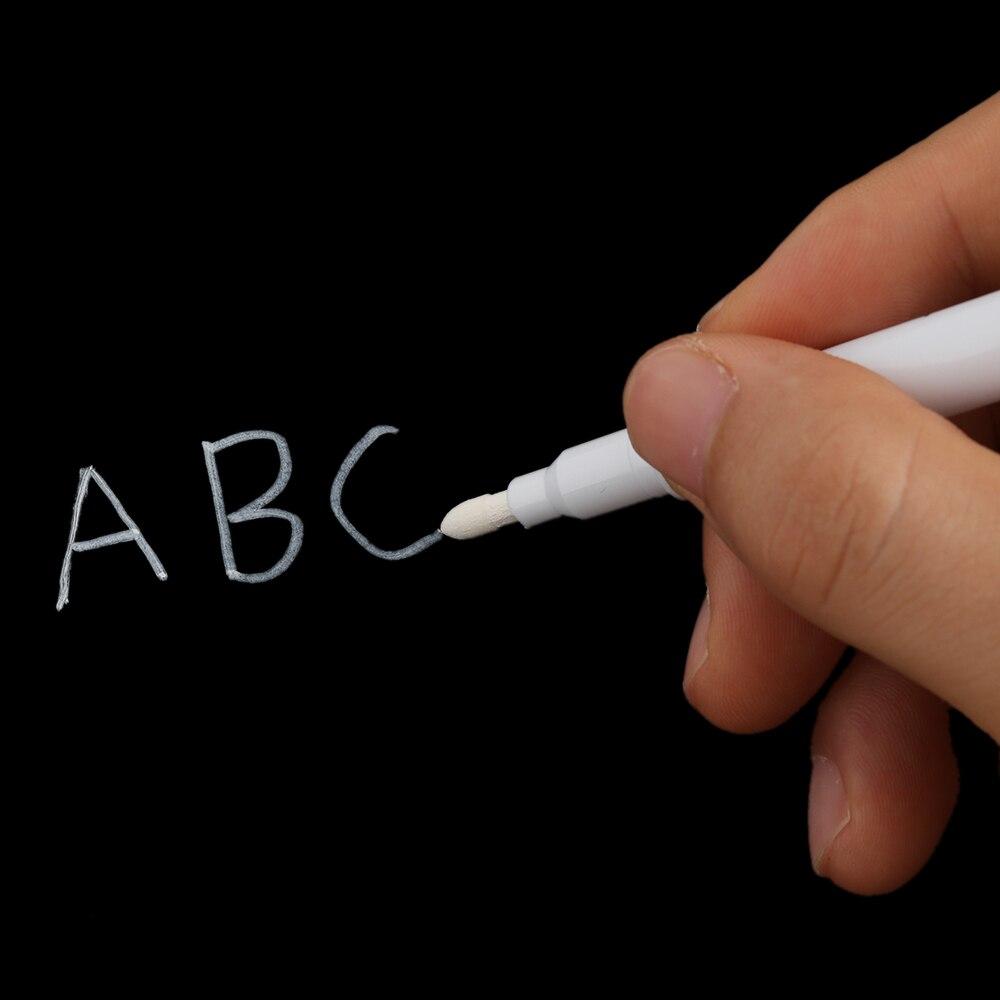 1/3pcs White Liquid Chalk Pen/marker For Glass Windows Chalkboard Blackboard Stationery Office Supplies