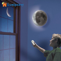 LumiParty Indoor LED Wall Moon Lamp With Remote Control Relaxing Healing Super Moon Night Lights Art