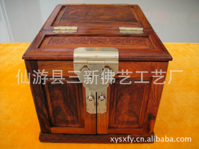 El suministro de mujeres de cosmética del Kit del maquillaje caja para mujer caja de cosméticos clásica antigua caja de madera caja de cosméticos de maquillaje