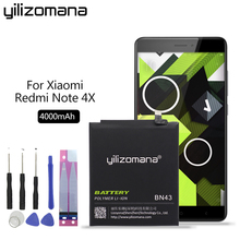 цена на YILIZOMANA Phone Battery BN43 For Xiaomi Redmi Note 4X Hongmi Note4X Snapdragon 625 4000mAh Replacement Phone Batteries
