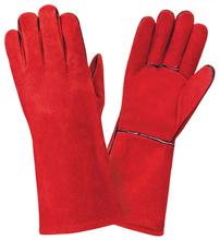Leather Work Gloves TIG MIG Welder Driver Red Welding