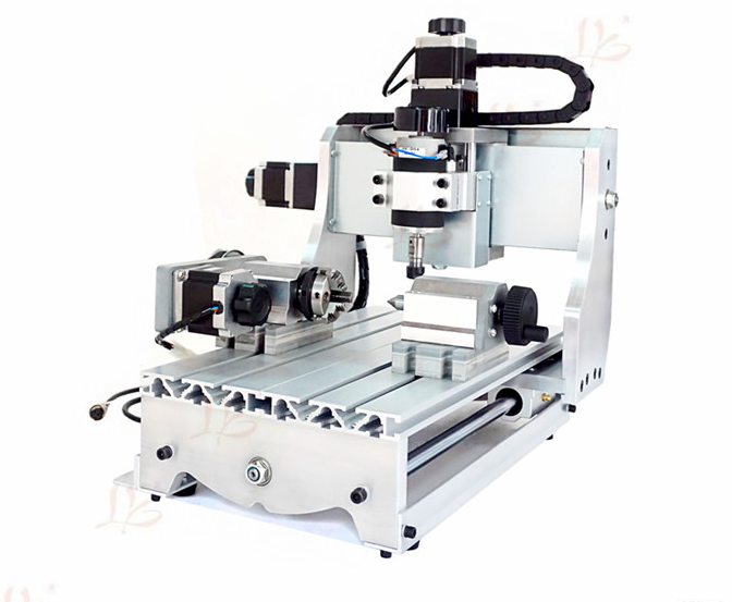 4 axis mini cnc milling machine 3020 Z-D300 300W cnc router free shipping to Russia free tax diy cnc 4th axis rotary axis with chuck for cnc router wood milling machine free tax to russia