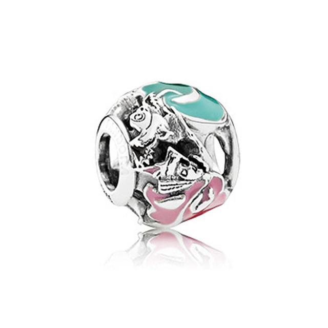 Aurora das Fadas Madrinhas Beads Serve Pandora Encantos Pulseiras 2016 Primavera Jóias 925 Sterling Silver Jóias DIY Encantos Disny