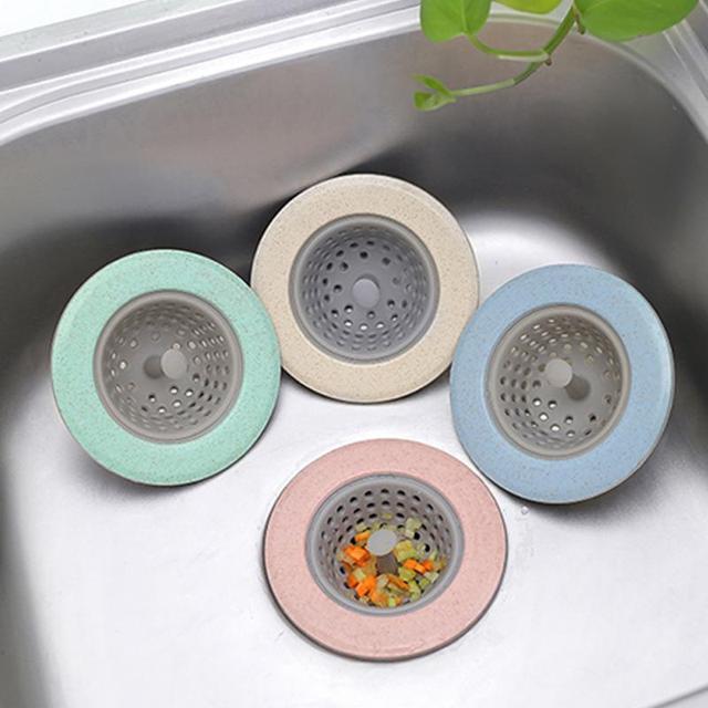 Силиконовые пшеничной соломы Слив для кухонной раковины слив в ванной раковина Крышка для дренажа решетка для раковины канализации волос сетчатый фильтр