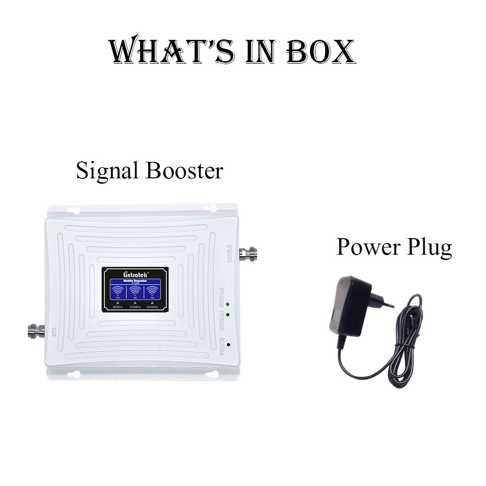 Image 5 - Lintratek Repeater 900 2100 2600Mhz Signal Booster 2G 3G 4G LTE Tri Band Amplifier GSM 900 3G 2100 4G 2600 WITHOUT ANTENNA @7-in Signal Boosters from Cellphones & Telecommunications