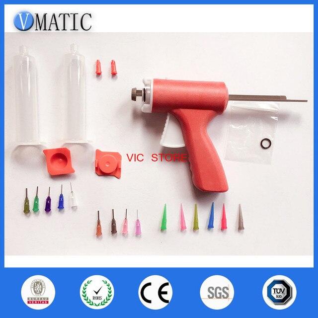 Free Shipping 30/55cc ml Manual Single Liquid Dispensing Glue Gun With 30cc Syringe & Stopper + Glue Dispensing Needles