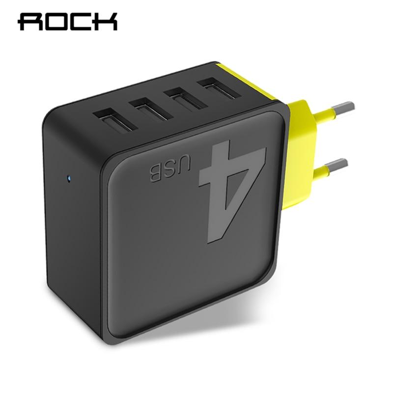 ROCK Sugar 4 USB Wall Phone Charger 5V 4