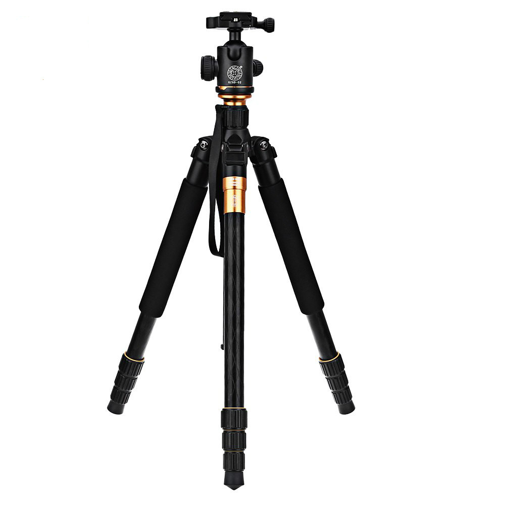 QZSD Q999 Camera Tripod for Travel Photography 62.2 In Aluminium Magnesium Video Monopod Stand Holder with Quick Release Plate qzsd q555 55 5 inches aluminium alloy camera video tripod monopod with quick release plate portable lightweight holder