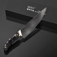 chef knife for men Damascus chef knife Japanese Damascus VG10 Damascus steel kitchen knife with Ebony handle meat knife 19