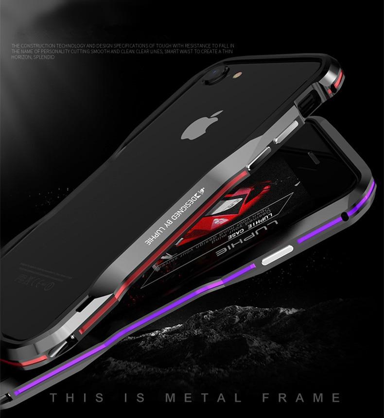iPhone X 7 8 Plus Luphie Metal Bumper Aluminum Case (9)